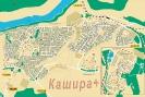 Карта Каширы с домами